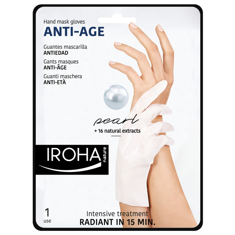 IROHA Hand Mask Gloves Anti-Age Pearl