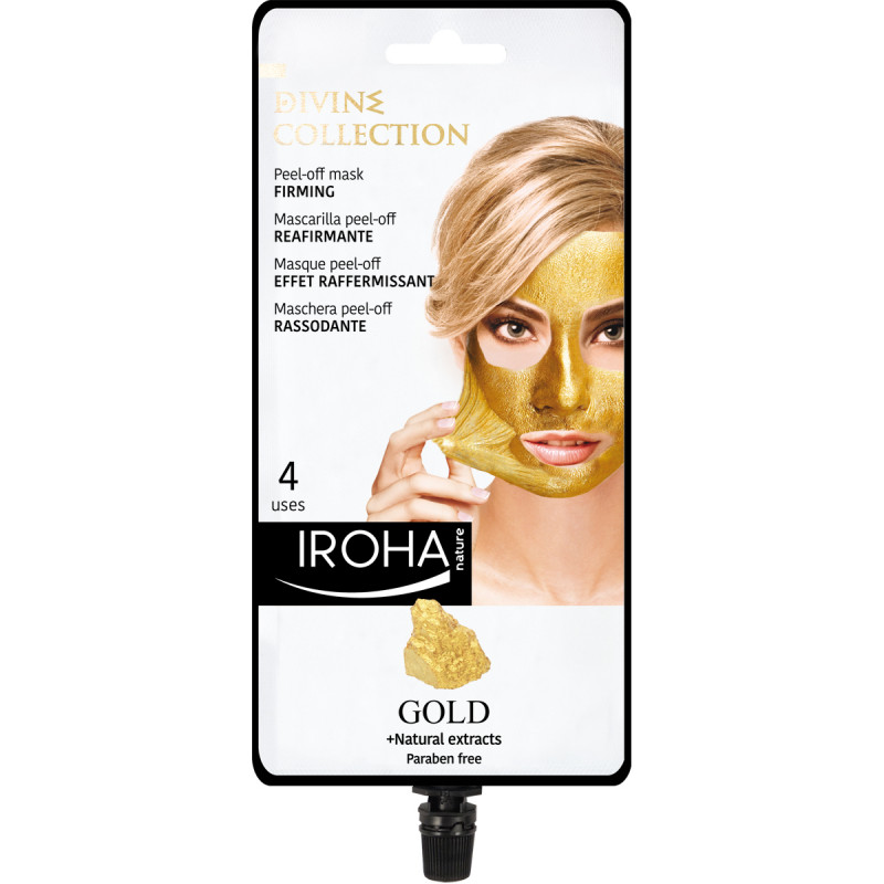 IROHA Gold Peel-off Mask Firming mit 24K Gold und Naturextrakten, 25ml