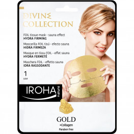 IROHA Gold Tissu-Facemask Hydra Firming mit 24K Gold und Collagen