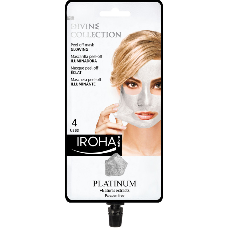 IROHA Platinum Peel-off Mask Glowing mit Platinium und Naturextrakten, 25ml